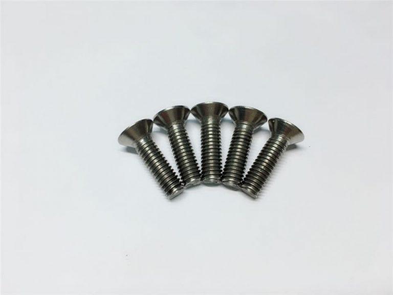 M3, M6 титанов винт с плоска глава гнездо на главата титаниеви фланцови винтове за спинална хирургия