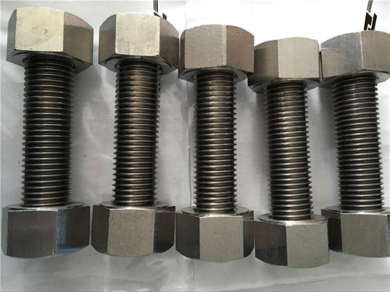 никелова сплав 400 en2.4360 изцяло резбова пръчка с крепежни гайки