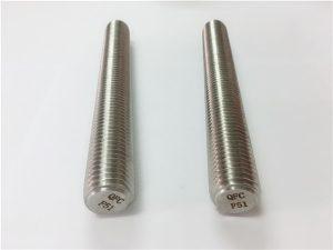 No.77 Дуплекс 2205 S32205 крепежни елементи от неръждаема стомана DIN975 DIN976 резбовани пръти F51