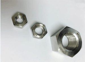 Дуплекс 2205 / F55 / 1.4501 / S32760 крепежни елементи от неръждаема стомана, тежка шестостенна гайка M20