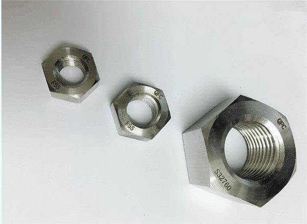 дуплекс 2205 / f55 / 1.4501 / s32760 крепежни елементи от неръждаема стомана тежка шестостенна гайка m20